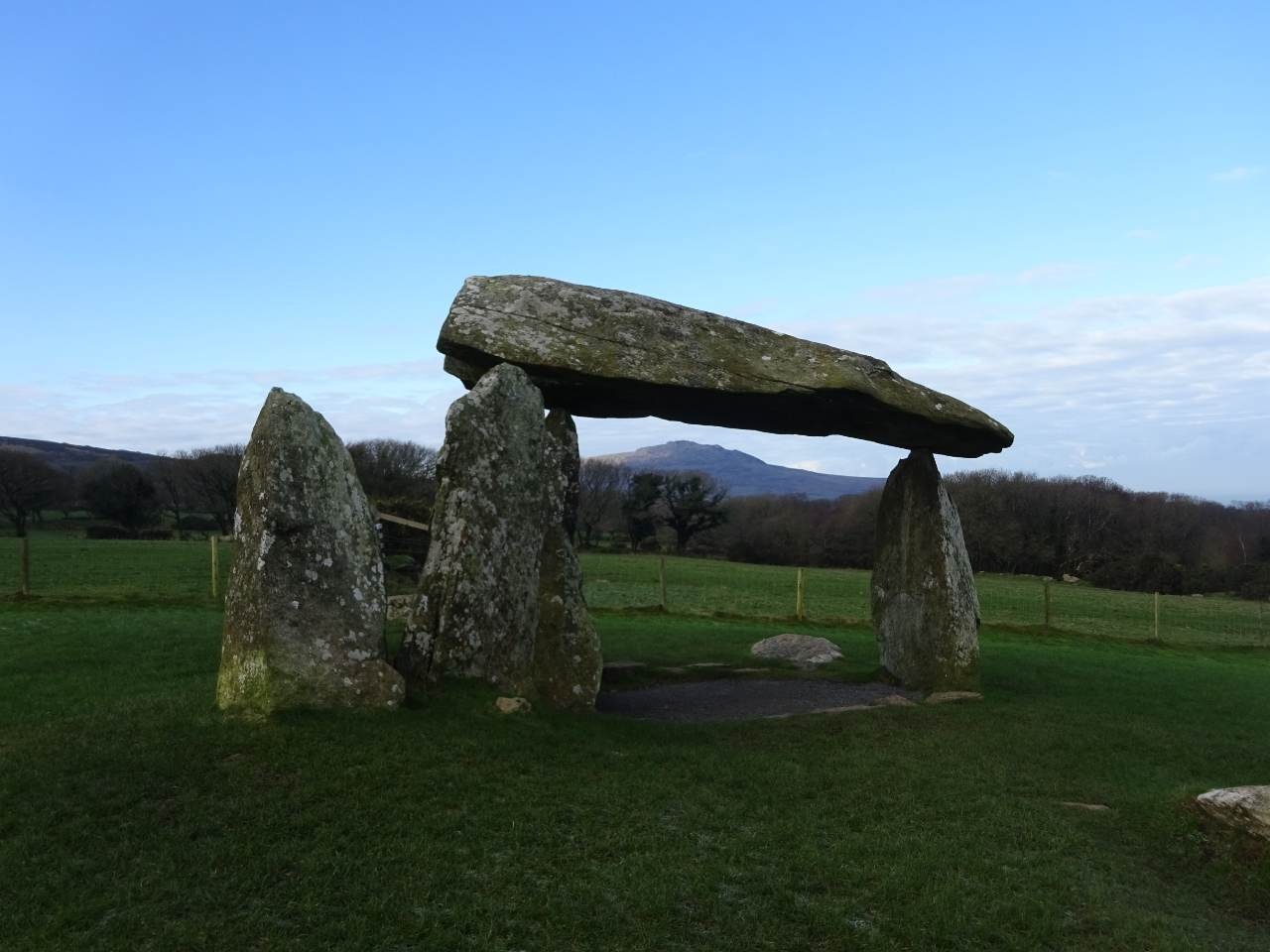 Pentre Ifan burial chamber in Wales